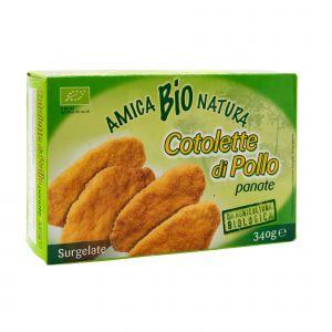 Cotolette di Pollo Panate Amica Bio 340 G
