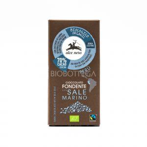 Cioccolato Fondente con Sale Marino Alce Nero 50G