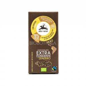 Cioccolato Extra Fondente con Zenzero Alce Nero 50G