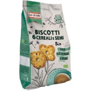 Biscotti ai 6 Cereali e Semi Fior Di Loto 350 G
