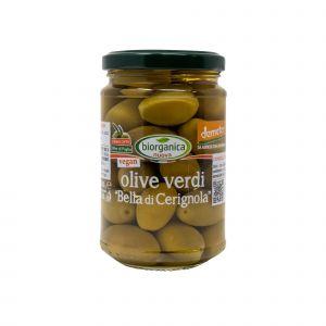 Olive Verdi Bella di Cerignola In Salamoia Biorganica Nuova 280 G
