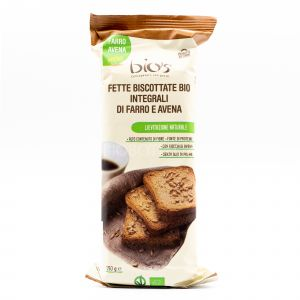 Fette Biscottate Integrali di Farro e Avena Bio's 200G