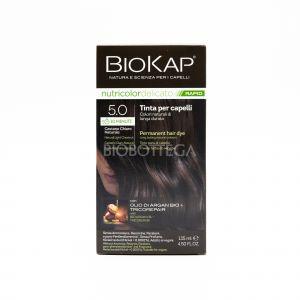 Tinta per Capelli 5.0 Castano Chiaro Naturale Delicato Rapid BioKap Nutricolor