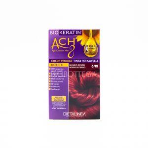 Tinta per Capelli 6/RI Biondo Scuro Rosso Intenso Biokeratin Ach8