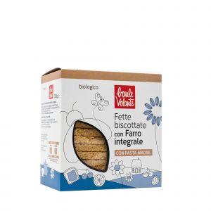 Fette Biscottate di Farro Integrale Borsa 300 G