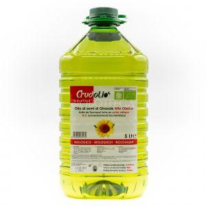 Olio di Semi di Girasole Crudolio Alto Oleico 5 L