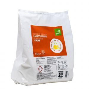 Detersivo in Polvere per Lavastoviglie con Olio Essenziale di Limone Ecor 2000 G