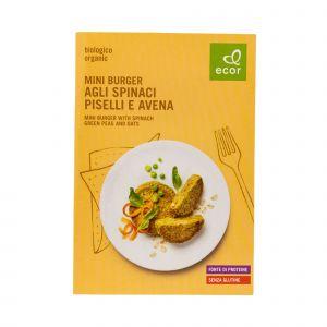 Mini Burger agli Spinaci, Piselli e Avena Ecor 140 G