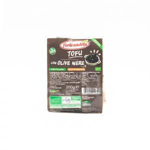 Tofu alle Olive Nere Fonte della Vita 200G