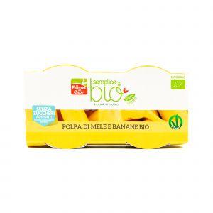 Polpa di Mele e Banane Semplice & Bio La Finestra sul Cielo 200G