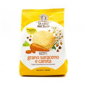 Biscotti Grano Saraceno e Carota La Città del Sole 300G