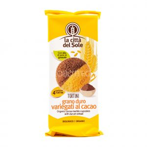 Tortini di Grano Duro Variegati al Cacao La Città del Sole 180G