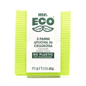 3 Panni Spugna in Cellulosa mr Eco