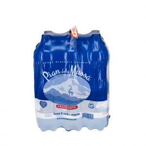 Fardello 6 Bottiglie 1.5L Acqua Pian della Mussa Frizzante 9000 ML