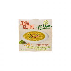 Zuppa di Ortaggi, Grano Saraceno e Lenticchie Più Bene 340 G
