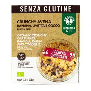 Crunchy Avena Banana, Uvetta e Cocco Probios 375G