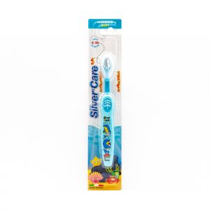 Spazzolino Antibatterico Blu Baby Morbido SilverCare