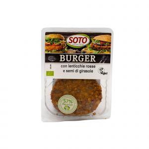Burger con Lenticchie Rosse e Semi di Girasole Soto 160 G