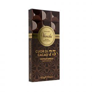 Cioccolato Fondente Cuor di Cacao 75% Venchi 100 G