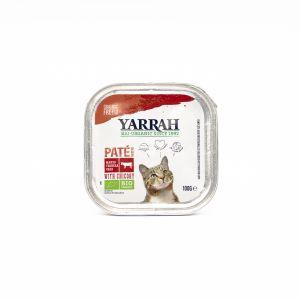 Paté BIO al Manzo con Cicoria per Gatti Yarrah 100G