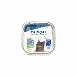 Umido BIO Aringa e Spirulina per Gatti Yarrah 100G